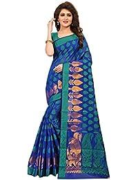 TRUNDZ Women's Pure Cotton Silk Blend Printed Saree Partywear/Wedding Saree/Casual Wear Saree With Blouse Piece