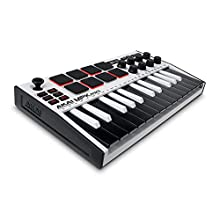 AKAI Professional MPK Mini MK3 – 25 Key USB MIDI Keyboard Controller with 8 Backlit Drum Pads, 8 Knobs and Music Production Software Included (White)