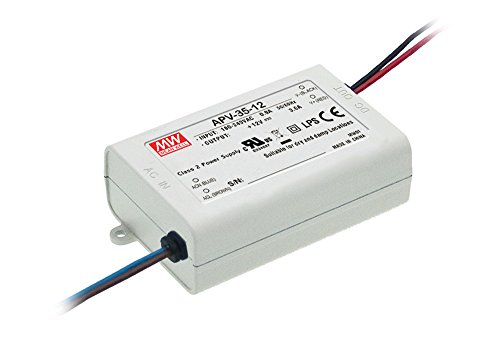 MEAN WELL, Cambiar La Fuente De Alimentación ,Converter Para la luz De Tira Flexible Del LED, El Transformador, 110/220V AC-DC Switching Power Supply 35W 12V 3A(APV-35-12)