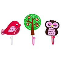 Handcrafted Wooden Owl & Bird Childrens Coat Hooks by Tinkie Toys