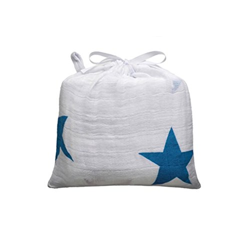 aden + anais 9009 - Brilliant Blue Musselin Mulltuch, Einzelpackung