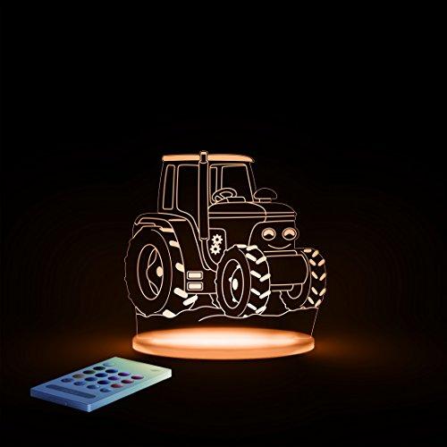 Aloka Traktor Motiv Nachtlicht - Kinderzimmer Baby LED Lampe Farbwechsel Fernbedienung Schlafmodus, Mehrfarbig - 3