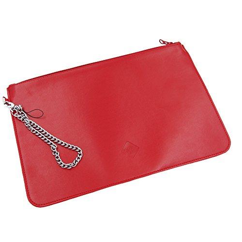 Tellur Fashion Clutch Bags mit Verschluss - Reisepasshülle, Rot Preisvergleich