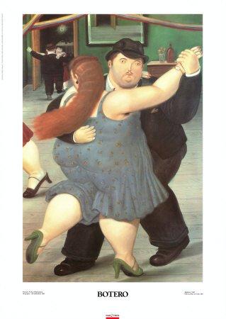 Lámina 'Bailarines', de Fernando Botero, Tamaño: 49 x 69 cm