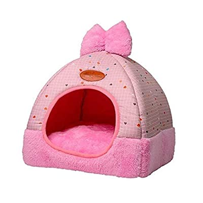 HHA Self-Warming 2-in-1 Foldable Cave Shape High Elastic Foam Pet Cat Bed for Cats and Small Dogs 32 * 32 * 33pet bed from wangbobo