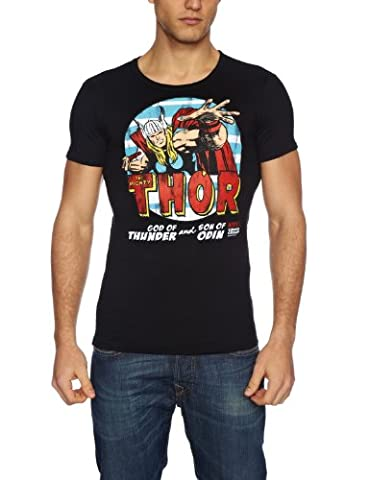 Logoshirt Marvel - The Mighty Thor - Tee shirt manches courtes mixte adulte - Black - XL