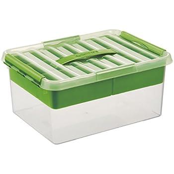 Transparente Aufbewahrungsbox 400 x 400 x 180 mm 18 Liter Clipbox mit Deckel