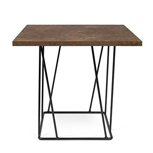 Paris Prix - Temahome- Table D'appoint Design Helix 50cm Rouille & Métal Noir