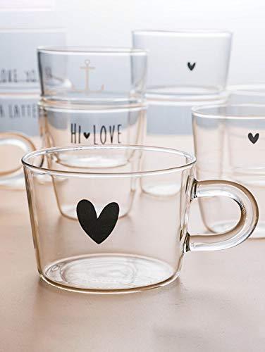 Milch cup_office tee tasse saft frühstück haferflocken trinken tasse mädchen herz glas englisch buchstaben mit wärme D -
