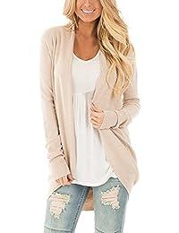 04ce4d5745d71f Cnfio Damen Strickjacke Cardigan Pullover Casual Langarm Outwear Jacke  Winter
