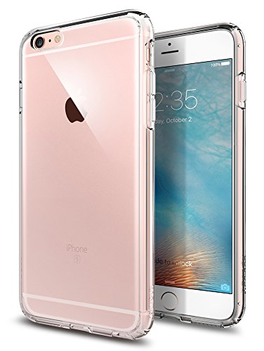 e, Spigen® [Ultra Hybrid] Luftpolster-Technologie [Crystal Clear] Durchsichtige Rückschale und TPU-Bumper Schutzhülle für iPhone 6 Plus / 6S Plus Case, iPhone 6 Plus / 6S Plus Cover - Crystal Clear (SGP11644) (Iphone 6 Hybrid Case)