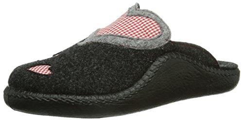 Romika - Pantofole 61010 Bambini e ragazzi, Grigio (Grau (anthrazit 700)), 34 (1.5 UK)