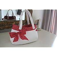 Rockabilly Handtasche weiß / rot