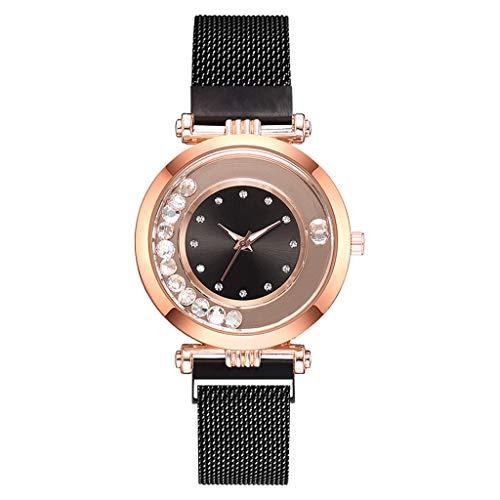 REALIKE Damen Armbanduhren Exquisit Flow Perlen Keine Nummer Mesh-Gürtel Uhren Mehrfache Farben Freizeit Ultradünn Britische Artart und Weise Neue High End Geschäftsuhr Business