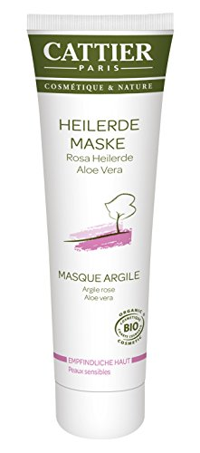 Cattier Rosa Heilerde Maske für empfindliche Haut, 1er Pack (1 x 100 ml)