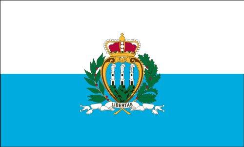 America's Flag Company Flagge San Marino, Nylon 5-Foot by 8-Foot