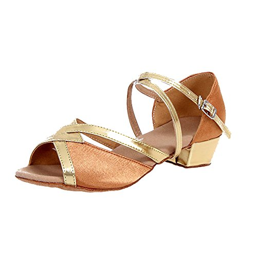 KINDOYO Trois Couleurs Option Chaussures à Semelle Souple Filles Satin Chaussures de Danse Latine