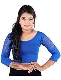 Fressia Fabrics Women's Cotton Saree Blouse Readymade For Women Free Size