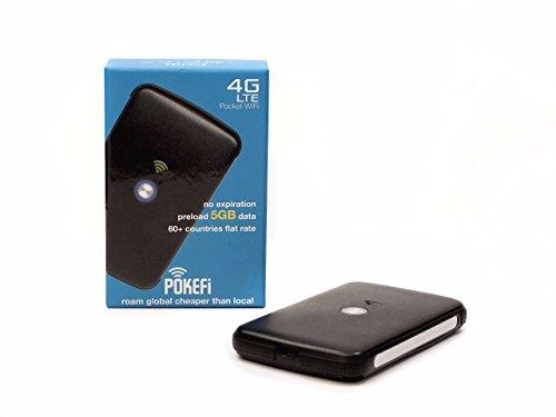 SIM Karte mit weltweiter Flatrate,Pokefi 4G/LTE 150 Mbit/s mobiler WLAN Router,5GB Datenvolumen,Pocket WiFi Hotspot ohne versteckte Zusatzkosten,3850mAh Akku