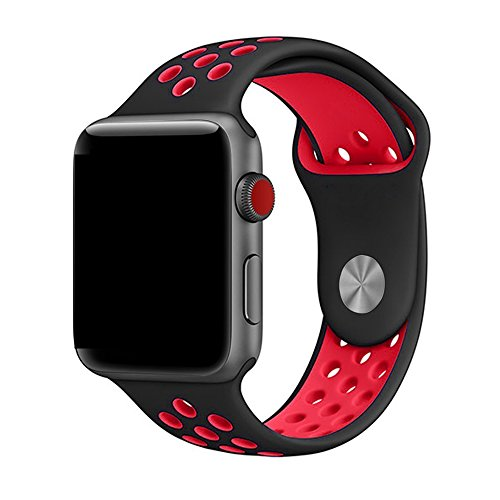 LEEHUR Apple Watch Armband 42mm, Serie 1/2/3 Sport Armbanduhr Silikonarmband Ersatzarmband Armband für Apple iWatch / Apple Uhr Nike +
