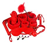 Parejas Eróticas Productos Pasión Felpa 10 Piezas Juego Adulto Alternativa Juguetes Erótico Mujer Masaje Cuero,Red