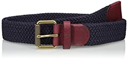 Fred Perry Men's Woven Cord Belt, Navy, One Size