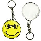 Smiley Geek - Porte-clés badge button