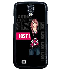 Fuson Lost Girl Back Case Cover for SAMSUNG GALAXY S4 - D4033