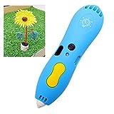 NINI 3D-Druck Stift Kinder-Lalerei Graffiti Niedrigtemperatur-3D-Smart-Lackiermaterial Stift Umweltmaterial Laden Cartoon 3D-Lackierstift,Blue