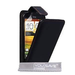 Yousave Accessories HT-DA02-Z046 Etui en cuir pour HTC One SV Noir