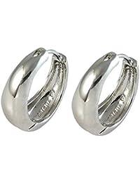 MEENAZ Silver Brass Hoop Earrings for Men