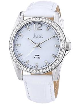 Just Watches Damen-Armbanduhr Analog Quarz Leder 48-S8194-WH