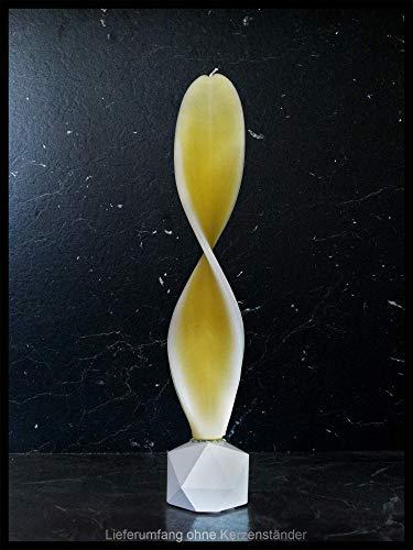 Engelskerze gelb-weiß. Schöne Osterdeko oder als Geschenk zum Geburtstag, Taufe, Kommunion o. Konfirmation