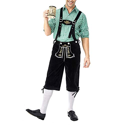 Guy Oktoberfest Kostüm - JstDoit Adult Oktoberfest Bayerischer Mann Kostüm Truhe Bier Guy Short Lederhosen Set Kostüm