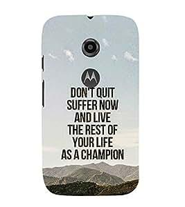 EPICCASE The Champion Mobile Back Case Cover For Moto E 2nd Generation (Designer Case)