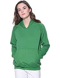 Purys Green Solid Hoodie