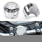 Motorrad Lenkerhalterung Uhr Überzug Shell weiße Aluminiumlegierung Griff Motorraduhr Uhr...