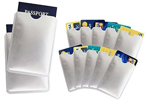 Generic anti Vols de numérisation RFID passeport protection étanche, carte de crédit Secure Sleeve support, une grande variété d'autres Card Safe support, Lot de 10