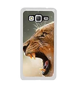 Tiger 2D Hard Polycarbonate Designer Back Case Cover for Samsung Galaxy Grand Prime :: Samsung Galaxy Grand Prime Duos :: Samsung Galaxy Grand Prime G530F G530FZ G530Y G530H G530FZ/DS
