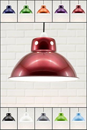 Funky Cafe Style rétro Plafonnier Pendentif Abat-jour en métal, industriel moderne Look vintage, 300 mm de diamètre