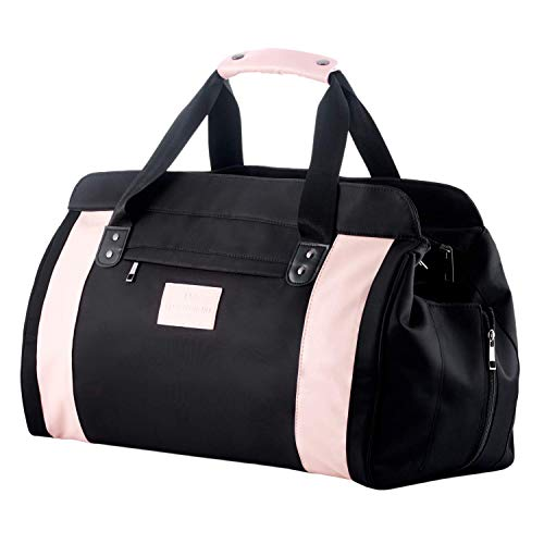 Saint Maniero Bolsa de Gimnasio Mujer Premium Bolsa Deporte Mujer Gym Bag Women Yoga Bag Bolsa de Yoga Sports Bag Women Dance Bag Bolsa Deportiva Mujer Gym Bag for Women (Rosa)
