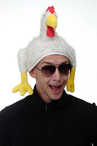 DRESS ME UP - H91/Chicken Party Hut Mütze Halloween Karneval Huhn Henne Hahn ca. 62 cm (Halloween-mütze)