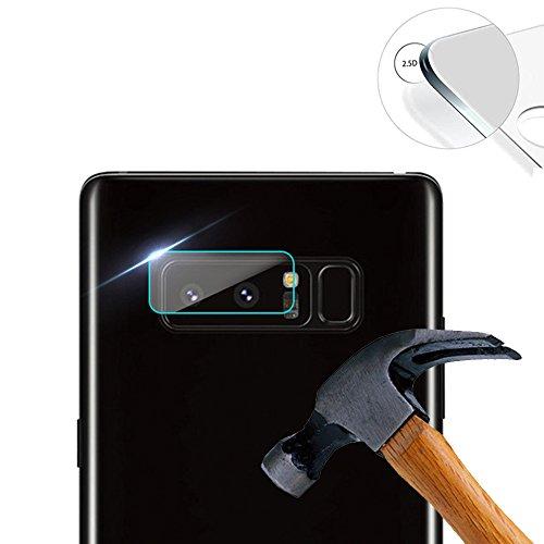 Lusee 2 x Pack Kamera Schutzfolie Linsenschutz für Samsung Galaxy Note 8 SM-N950F 6.32 Zoll Echtglas Tempered Glass Display Schutz Folie (2 Kamera Galaxy)