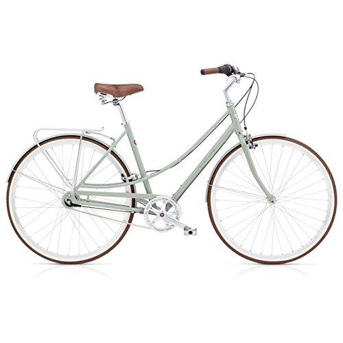 Electra Loft 7i Damen Fahrrad Regular Grün Grau Stadt Rad Alu Urban City Retro 700C, 537501 - Beach Aluminium Cruiser