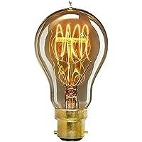 ONEPRE Vintage BC B22 Bayonet Filament Light Bulb 60W Art Deco Retro Edison Light Bulb