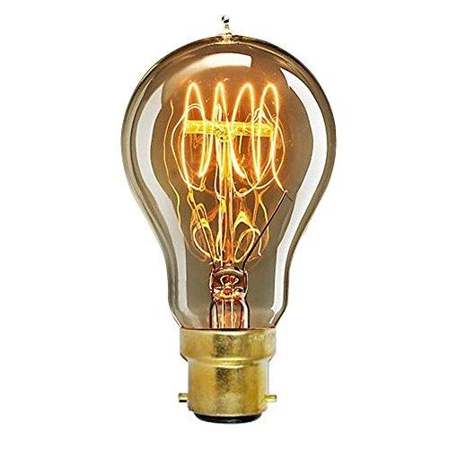 onepre Vintage BC B22Bajonett-Glühbirne 60W Art Deco Retro Edison Glühbirne