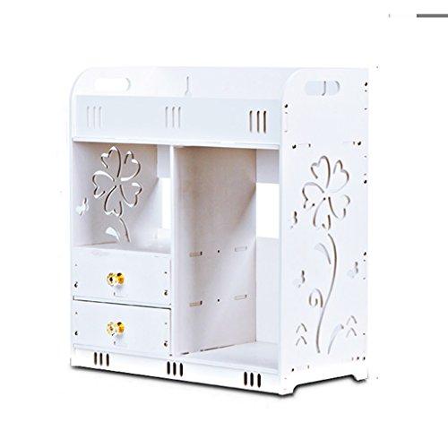 Basic Corner Waterproof Duschkorb Plastic Storage Cabinet White Regal für Küche und Bad Storage Unit 2-Tier oder 3-Tier Keine Schraube erforderlich (FREE BOHREN: Kleber nicht im Lieferumfang enthalten -