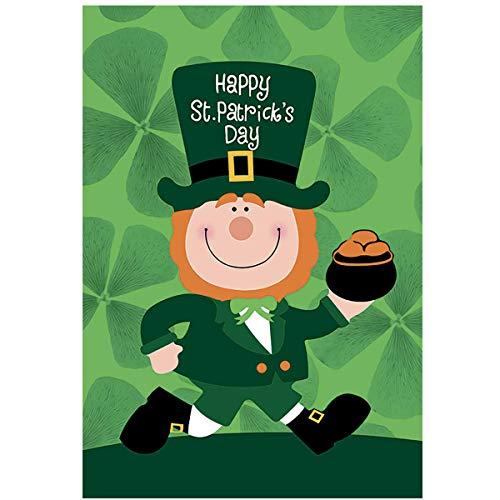 Morigins Happy St. Patrick 's Day Leprechaun Garten Flagge Pot of Gold 31,8x 45,7cm Large-28 x 40 (St Patricks Day Pot Of Gold)