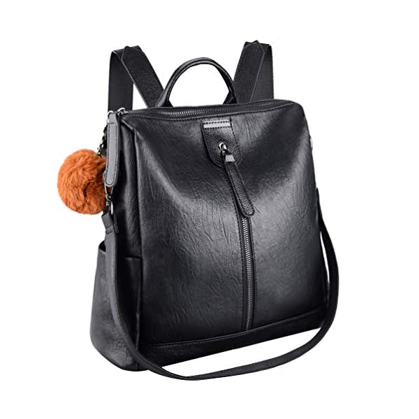 41pP7USR 3L. SS600  - VBIGER Bolsos mochila mujer Antirrobo Mochila de Cuero PU Mano Mochilas Casual Bolsa Bandolera Messenger Bag Backpack…