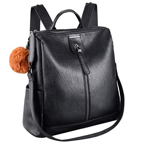 k Elegant Leder PU Anti-Diebstahl Tagesrucksack Schultaschen Reiserucksack für Frauen ()